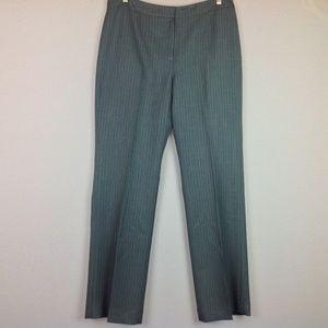 Le Suit Dress Pants Womens 10 Gray Pinstripe